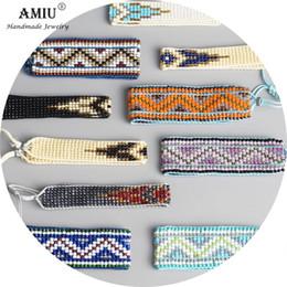 2019 семена установлены AMIU Handmade Bohemian Woven Seed Beads Дружеский браслет Тканые веревочные комплекты для упаковки 5 штук для женщин Мужчины дешево семена установлены