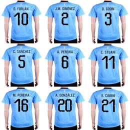 df62a91cf Mens Womens Kids Custom 2018 World Cup Uruguay Soccer Jersey 21 E.CAVANI 3  D.GODIN 11 C.STUANI 10 D.FORLAN J.M.GIMENEZ national team jerseys