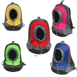 Wholesale Backpack Dog Carriers - Mesh Pet Travel Bag New Multi Color Puppy Backpack Portable Double Shoulder Dog Carrier Durable Hot Sale 28my2 XC