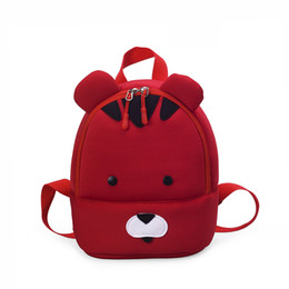 8372e8780162 Neoprene cartoon bear kids travel backpacks children school pouches bags s  infantis escolars for kindergarten girls boys