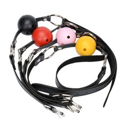Wholesale Wholesale Adult Harnesses - Sex Open Mouth Gag Harness Oral Fixation Nylon Band Ball Gag Mouth Plug Adult Restraint Slave Bondage Sex Toys for Couples