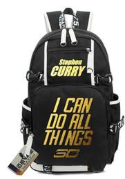 Stella di scuola online-2017 Stephen Curry zaino Borsa da scuola di pallacanestro Club giocatore Super star zainetto Outdoor zaino Sport day pack Lebron James Durrant