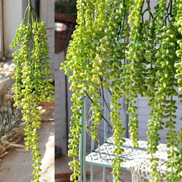 hanging silk flowers Canada - Artificial Flowers Wall Hanging Silk Wisteria Ivy Vine Garland Wedding Party Supplies Christmas Decoration Fake Hang Baskets 6 5al ff
