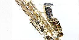 Wholesale selmer 54 - New High Quality Saxophone Alto Sax SELMER SAS- 54 alto saxophone Musical Instruments Professional Silvered gold key E flat Sax Shipping