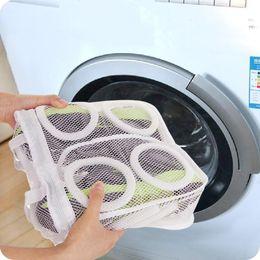 Wholesale Drying Laundry - Wholesale- 2017 high quality fashion Storage Organizer Bags Mesh Laundry Shoes Bags Dry Shoe Organizer Portable Washing Bags wholesale