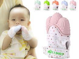 Wholesale Latex Free Gloves Wholesale - Baby Teething Mitten for Babies Self-Soothing Pain Relief and Teething Glove BPA FREE Safe Food Grade Teething Mitt