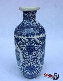 Wholesale Insert Ceramic - Jingdezhen porcelain antique blue and white porcelain vase flower inserted home accessories living room fashion Decoration