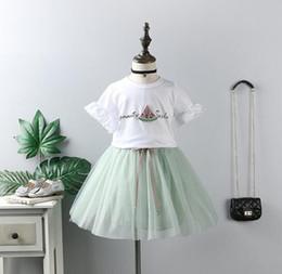 a703b9372106 Botique Kids clothing girl summer sets sandía Rhinestone diseño de manga  corta camiseta + falda tutu conjuntos de ropa de niña de verano sandía  vestidos ...