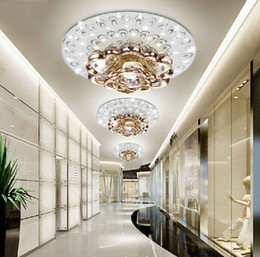 Wholesale crystal ceiling led spotlight - creative LED Crystal ceiling lamp for Corridor living room Bedroom crystal Downlight LED spotlight modern style lighting fixture