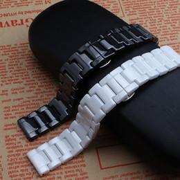 Argentina 14 mm 16 mm 18 mm 20 mm 22 mm negro blanco watcbands de cerámica correa correa banda para relojes de diamantes de moda señora cheap ceramic ladies watch bands Suministro