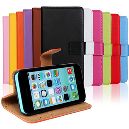 Wholesale Leather Case Iphone 5s - Card Slot Leather Case Wallet PU Leather Case Cover Pouch With Kickstand For iPhone X 8 7 6 6S Plus 5 5s