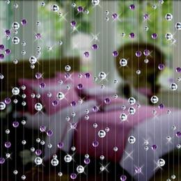 Décoration de mariage en cristal bleu en Ligne-Rideau en perle de verre à la mode en cristal décoration d'intérieur décoration de fond de mariage de luxe décoration