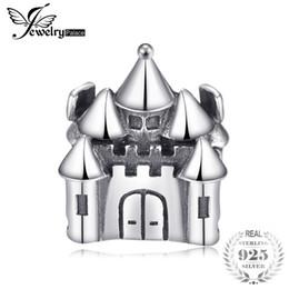 schloss sterling charme Rabatt Jewelrypalace 925 Sterling Silber Märchen Schloss Perlen Charms Fit Armbänder Geschenke Für Frauen Jahrestag Geschenk Modeschmuck