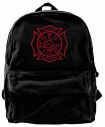 zaini svegli per le donne di college Sconti Futuro pompiere Canvas Shoulder Backpack Zaino carino per uomini Donne Adolescenti College Travel Daypack Design borsa