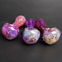 Tubo de vidrio Mini Tubo de fumar Tubos de mano para tabaco Hierba seca Rosa Púrpura Lindo Tubos de belleza para niña Señora Accesorios de vidrio para fumar desde fabricantes