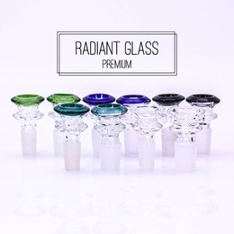 Wholesale Free Smoking Accessories - Glass bowl male 14mm 18mm double layers colorful bong accessory cone smoking pipes 2018 latest release free shipping