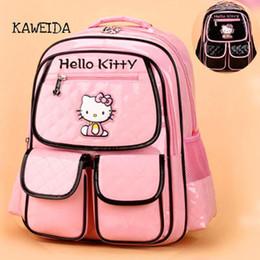 Mochila para crianças on-line-Saco de Escola de Couro PU para meninas adolescente Rosa olá kitty Bag Designer de Moda Crianças Bagpack Mochila Mochila Preta