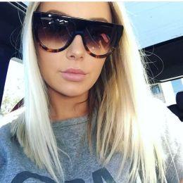 da224386f olhos óculos quadros fêmea Desconto Atacado- Moda Feminina Oversized Cat  Eye Sunglasses Mulheres Vintage Designer