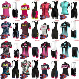 Wholesale bike jerseys women - 2018 ropa ciclismo ALE team 2018 Cycling women Short Sleeves jersey(bib) 9D gel Pads shorts sets Bike Wear Clothes D1709
