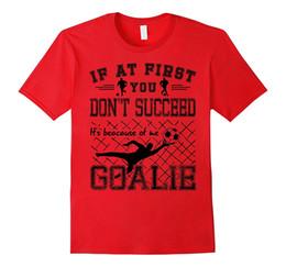 Wholesale Funny Football Soccer - Soccer Goalie Funny Football Goal Keeper Saying T-Shirt