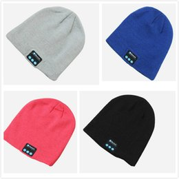 Wholesale Connect Fashion - Creative Personality Knit Bluetooth Music Cap Especially Soft and Warm To Connect Bluetooth Music Headset Hat Support Computer Mobile Table