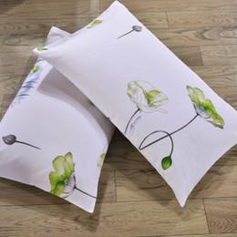 ropa de cama blanca pura Rebajas 2 unids de diferente tema blanco funda de almohada suave para la casa y el hotel ropa de cama cubierta de almohada de algodón puro