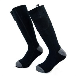 2019 calcetines de bolos al por mayor Calcetines térmicos eléctricos grises negros con batería recargable para pies crónicamente fríos de gran tamaño
