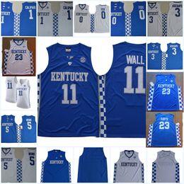 58ebc2e2f5d0 Mens NCAA Kentucky Wildcats John Wall College Basketball Jersey Fox John  Calipari Edrice Adebayo Malik Monk Anthony Davis Wildcats Jersey