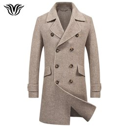 Качество шерсти кашемира онлайн-2018 winter high quality long cashmere coat  British style business casual men's double-breasted double-sided wool coat