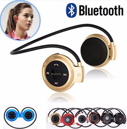 Wholesale Bluetooth Micro Earphone Cell - Mini 503 Sport Bluetooth Wireless Headphones Music Stereo Earphones+Micro SD Card Slot+FM Radio for Smart Cell Phone Android
