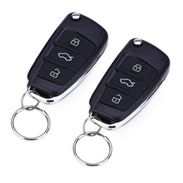 Wholesale Remote Unlock - Universal Car Remote Keyless Entry System Central Lock Unlock Car Door Auto Window New With Remote Controllers Free Shipping