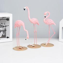 amigos de escritorio Rebajas Nueva Creative Lovely Desktop Decoración Pink Flamingo Modeling Resina Ornamento Decoración para el hogar Regalo para amigos Venta caliente Exquisite 11 5mx aa