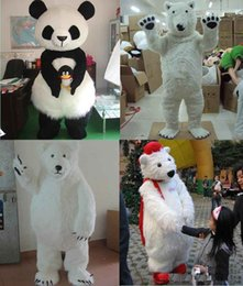 Wholesale Animal Costume Suits - 2018 High quality Lovely Polar Bear Mascot Costume Adult Size Animal Theme White Bear Mascotte Mascota Outfit Suit Fancy Dress