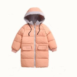 AJLONGER New Fashion Children Winter Jacket Girl Winter Coat Kids Warm  Thick Fur Collar Hooded long down Coats For Teenage 2Y-7Y affordable  teenage girl ... 9a95cbadfda57