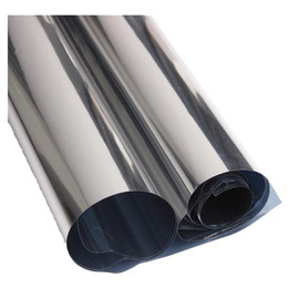 isolierfolienpapier Rabatt 2M Silber reflektierende Solarfolie Fensterfolie Papier Isolation Aufkleber One Way Spiegel