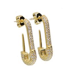 il gancio all'ingrosso dei monili di s Sconti perno micro pavone chiaro zirconi di alta qualità moda gioielli perno di sicurezza perno europeo donne trendy orecchini bellissimi