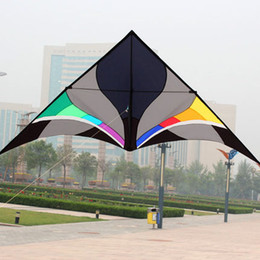2019 aquiloni verdi Free Shipping Outdoor Fun Sports 3m Power Nylon Power Triangle Kite With Kite Kandle And Line Flying