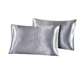 Naturelife Funda de almohada de satén de seda Inicio Multicolor Funda de almohada de seda de hielo Color sólido Sobre de doble cara Funda de almohada de cama desde fabricantes