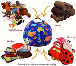 Wholesale Plush Beanbag - Kids Storage Bean Bags 16'' 18'' Plush Toys Beanbag Chair Bedroom Stuffed Animal Room Mats Portable Clothes Storage Bag