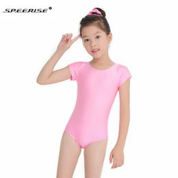 2019 leotard per bambini SPEERISE Girls Cap manica corta Body danza Danza Spandex Lycra Body Unitard per bambini Giovani bambini Body ginnastica sconti leotard per bambini