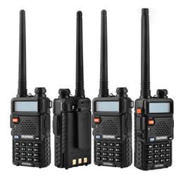 Batería de radio walkie talkie online-BaoFeng UV-5R UV5R Walkie Talkie banda doble 136-174Mhz 400-520Mhz Transceptor de radio de dos vías con 1800mAH Batería sin auriculares (BF-UV5R)