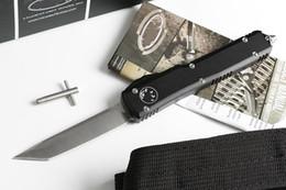 estilos de cuchillo de bolsillo Rebajas Oferta especial Micro Technology UT Cuchillo grande (4 estilo vástago redondeado) Caza plegable Pocket Knife Xma regalo para hombres copias 1pcs freeshipping