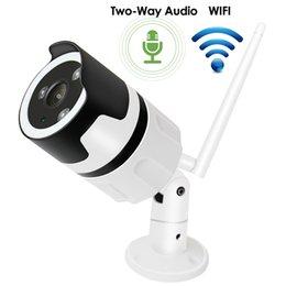 Cámaras de visión nocturna de vigilancia a prueba de intemperie online-Cámara IP Wifi 1080P Audio bidireccional Onvif 2.0MP HD Cámara de videovigilancia de seguridad por infrarrojos para exteriores con visión nocturna por infrarrojos y visión nocturna