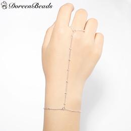 Wholesale Gold Slave Bracelets - Wholesale- DoreenBeads Hand Chain Slave Bracelets Women Summer Fashion Jewelry Gold Color   Silver Color 18.3cm long 1 Piece 2017 New Trend