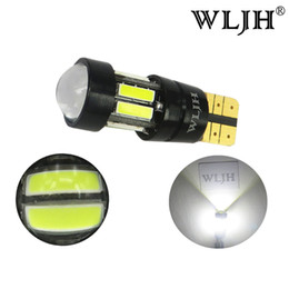 Wholesale Car Rio - WLJH Canbus No Error T10 W5W Led lights 7020 SMD Car Auto Interior Motor Parking Lamp DRL Turn Signal Backup Light Bulb White