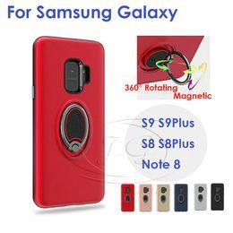 Iphone fall auto 3d online-360 drehender ring magnetischer telefonkasten für samsung s9 plus s8 plus s8 plus8 für iphone x 8 7 6 plus case