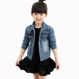 Wholesale children clothing girls denim jacket - New 2018 Spring Autumn Baby Girls Denim Jackets Coats Clothes For Girl Kids Children Jeans Jacket Outwear Clothing