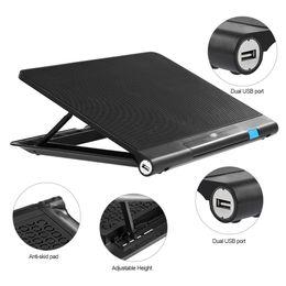 2019 прохладные синие ноутбуки USB ноутбук кулер ноутбук кулер 6 вентиляторы охлаждения регулировка высоты синий светодиод для 14-17 дюймов вентилятор ноутбука дешево прохладные синие ноутбуки