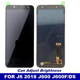 lentes de vidro da frente s4 Desconto J600 lcd substituição para samsung galaxy j6 2018 j600 j600f / ds j600g / ds display lcd touch screen digitador pode ajustar o brilho