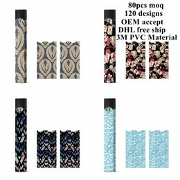 Wholesale usa papers - Sticker For Juul Customized Wraps Paper Cover Sticker Kits USA hot sell NEW Electronic Cigarette Skin For Juul Kits Cartridges Pods in stock